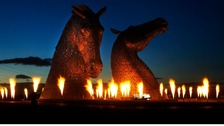 The Kelpies sculpture was designed by Andy Scott