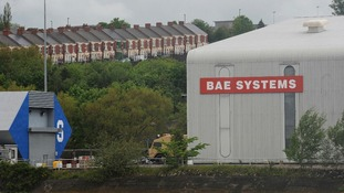 The BAE Systems plant in Newcastle as the defence giant is planning to axe more than 600 jobs and close the historic factory