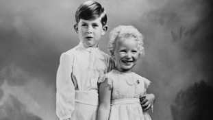 Princess Anne with her brother, Prince Charles