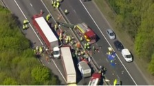 Lorry driver released on bail after M26 crash