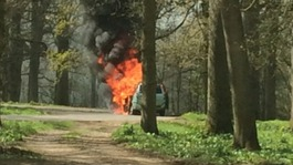 Car fire in Longleat lion enclosure