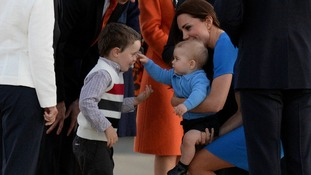 Prince George makes a new friend.