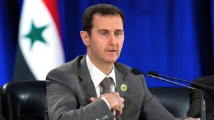 Syrian President Bashar al-Assad speaking in Damascus March