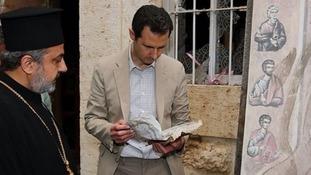 Syrian President Bashar al-Assad has made a rare trip outside the capital Damascus