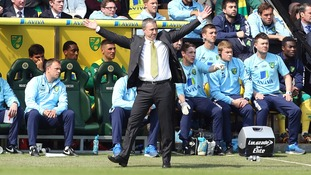 Norwich City's manager Neil Adams on the touchline