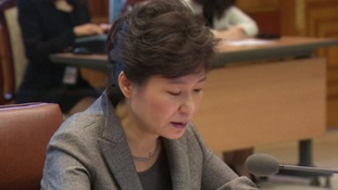 South Korea president Park Geun-hye.