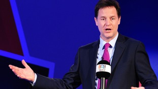 Nick Clegg during a recent radio debate on the future of Britain in the European Union