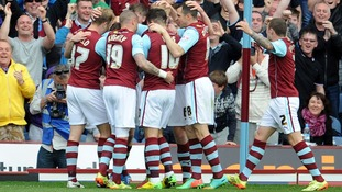 Championship side Burnley have been promoted to the Premiership
