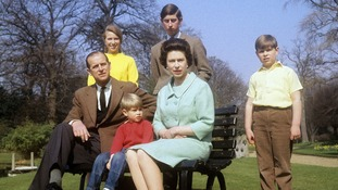 The Royal Family pictured in the grounds of Frogmore House, Windsor in 1968