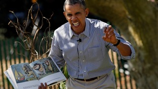 President Obama reading 'Where The Wild Things Are'