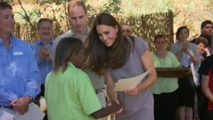 Kate awards a certificate to a member of the National Indigenous Training Academy.