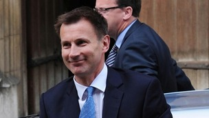 Jeremy Hunt arrives at the Leveson Inquiry.