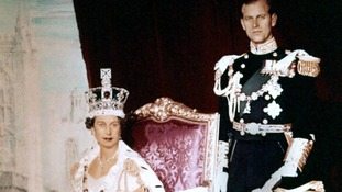 File photo dated 02/06/1953 of Queen Elizabeth II and the Duke of Edinburgh at her Coronation