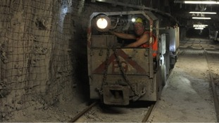 A miner at work at Thoresby colliery in November last year