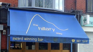 Robbers stormed into The Hillary Step early today