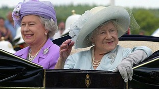 The Queen Mother arrives at Ascot with the Queen, five days ahead of her centenary celebrations