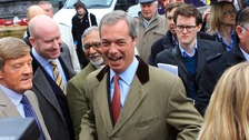 Nigel Farage at the launch of Ukip's European election campaign