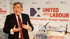 Gordon Brown last month, outlining constitutional changes that would keep Scotland within the United Kingdom