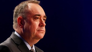 Scottish First Minister and leader of the Scottish National party, Alex Salmond, at the SNP's spring conference last month