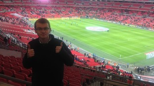 Stephen visiting Wembley Stadium