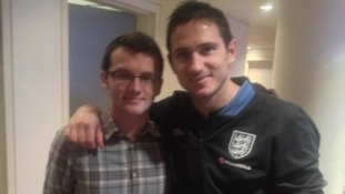 Stephen meeting Frank Lampard