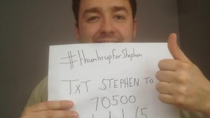 Jason Manford with a charity selfie