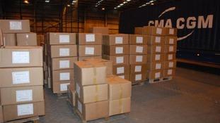 Towel shipment concealing drugs