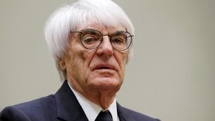 Formula One boss Bernie Ecclestone at the regional court in Munich, Germany, today.