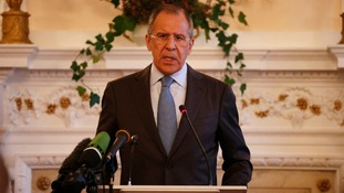 Russian Foreign Minister Sergey Lavrov says Ukraine must take the first step to resolve its crisis
