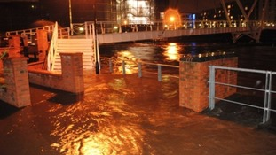Flooding at Clarence Dock