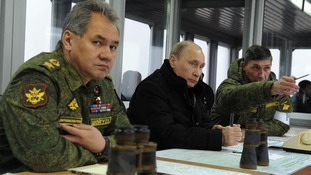 Russian Defence Minister Sergei Shoigu (left) has warned against Ukraine's recent use of force