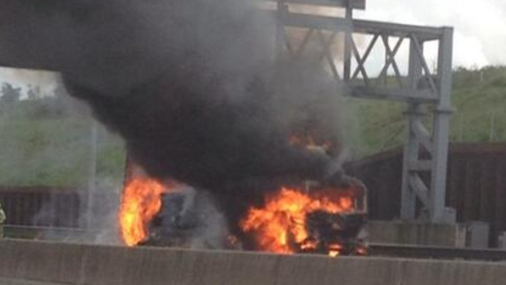 Lorry Fire Keeps M25 Closed During Rush Hour Anglia