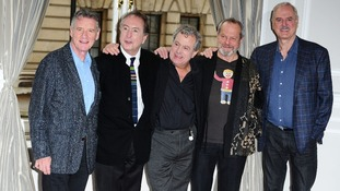 The surviving Pythons, Michael Palin, Eric Idle, Terry Jones, Terry Gilliam and John Cleese