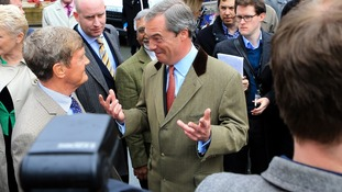 Nigel Farage at the launch of Ukip's election campaign earlier this week