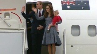 The royals wave goodbye in Canberra