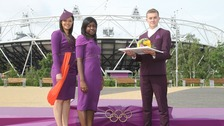 Gamesmakes, Jodie Rodaway (Presenter Escort with hat), Hilda Kwafo-Akoto (Athlete Escort), Matt Smith (Medal & Flower Bearer).