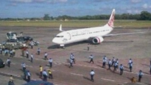 The Virgin Australia Airlines plane landed at Bali airport following the incident.