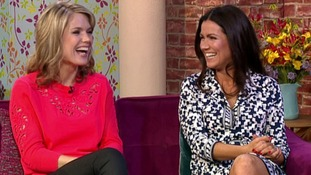 Charlotte Hawkins and Susanna Reid on the This Morning sofa.