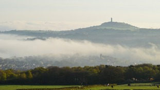 Misty towards Castle Hill Huddersfield