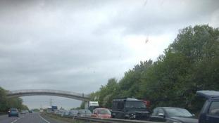 A47 blocked by crash
