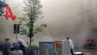 Dust filled the streets when a building collapsed in Vienna