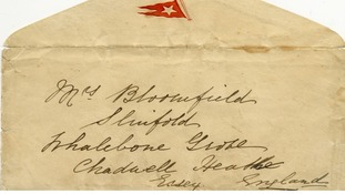 The letter was sold with its envelope, which has the White Star Line flag embossed on it.