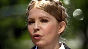 Ukrainian presidential candidate and former prime minister Yulia Tymoshenko.