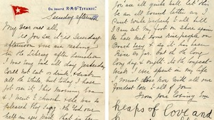 The letter was written on Titanic stationary