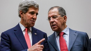 US Secretary of State John Kerry and Russian Foreign Minister Sergei Lavrov.