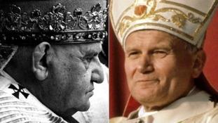 John Paul II and John XXIII to become saints today.