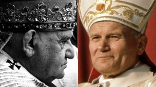 John Paul II and John XXIII to become saints today.