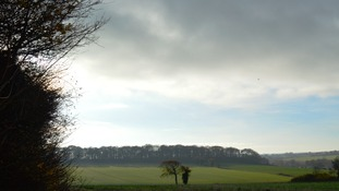 Sun over fields, Norfolk