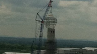 And the cap is almost in place...