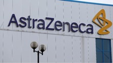 General view of the entrance to AstraZeneca's in Macclesfield